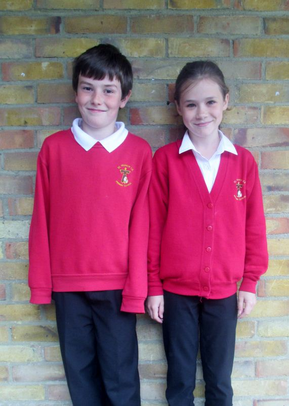 Picture of children in school uniform